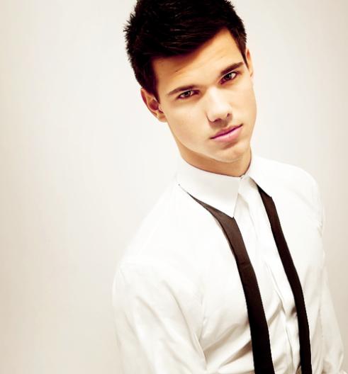 Taylor Lautner_white dress shirt