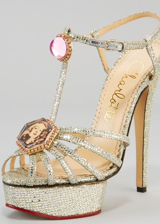 Leading Lady Glitter Platform Sandal