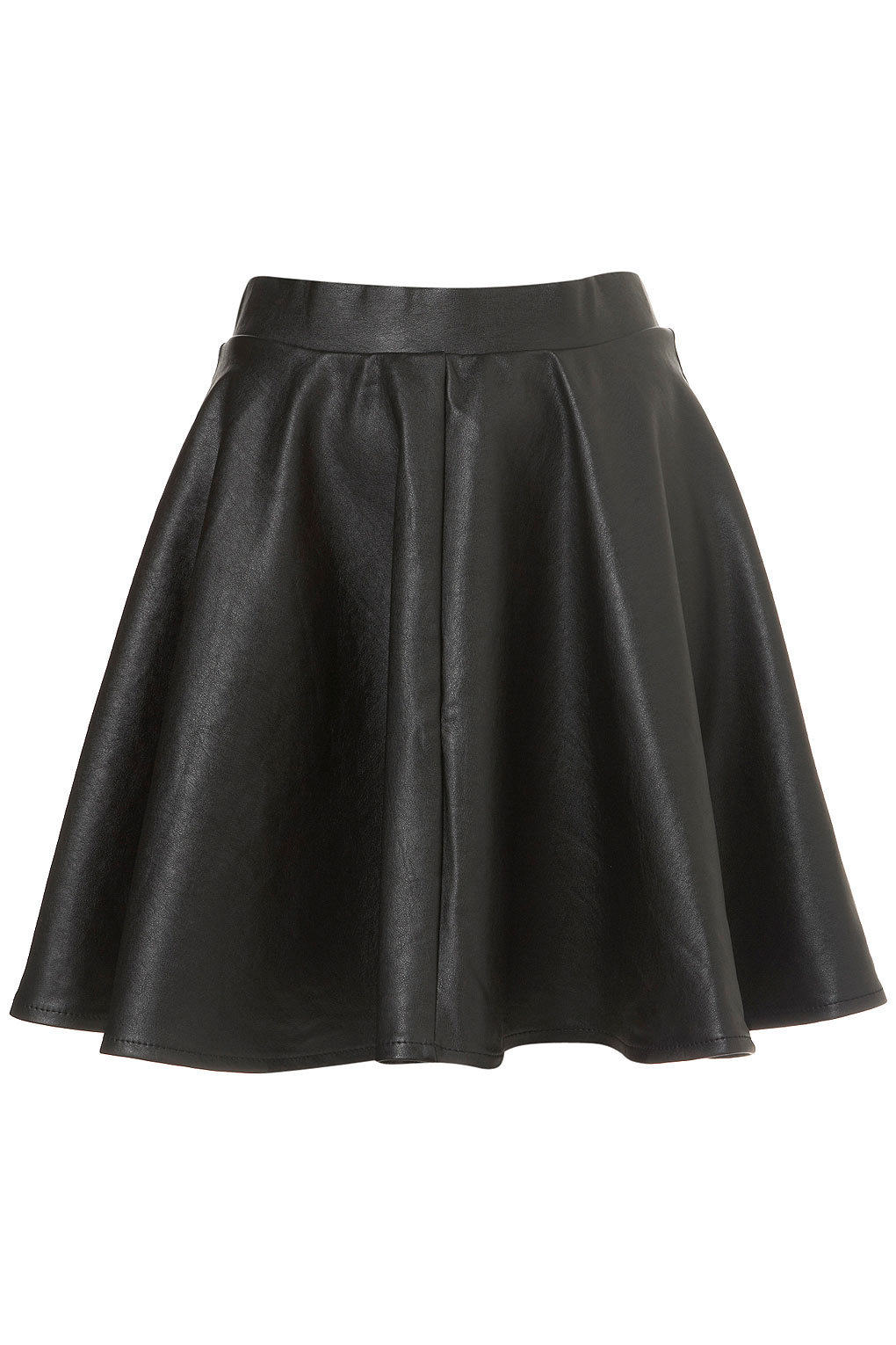 A faux suede mini skirt featuring a high-waist, QUICK VIEW WARNING: This product can expose you to chemicals, including lead and/or phthalates, which are known to the State of California to cause cancer and birth defects or other reproductive harm.