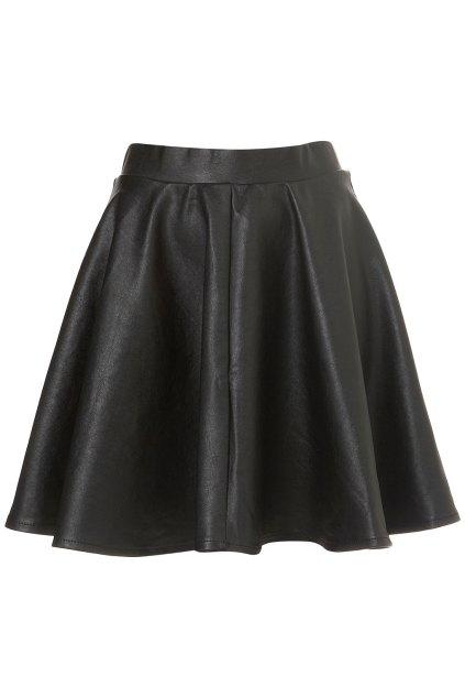 leather skater skirt_Topshop